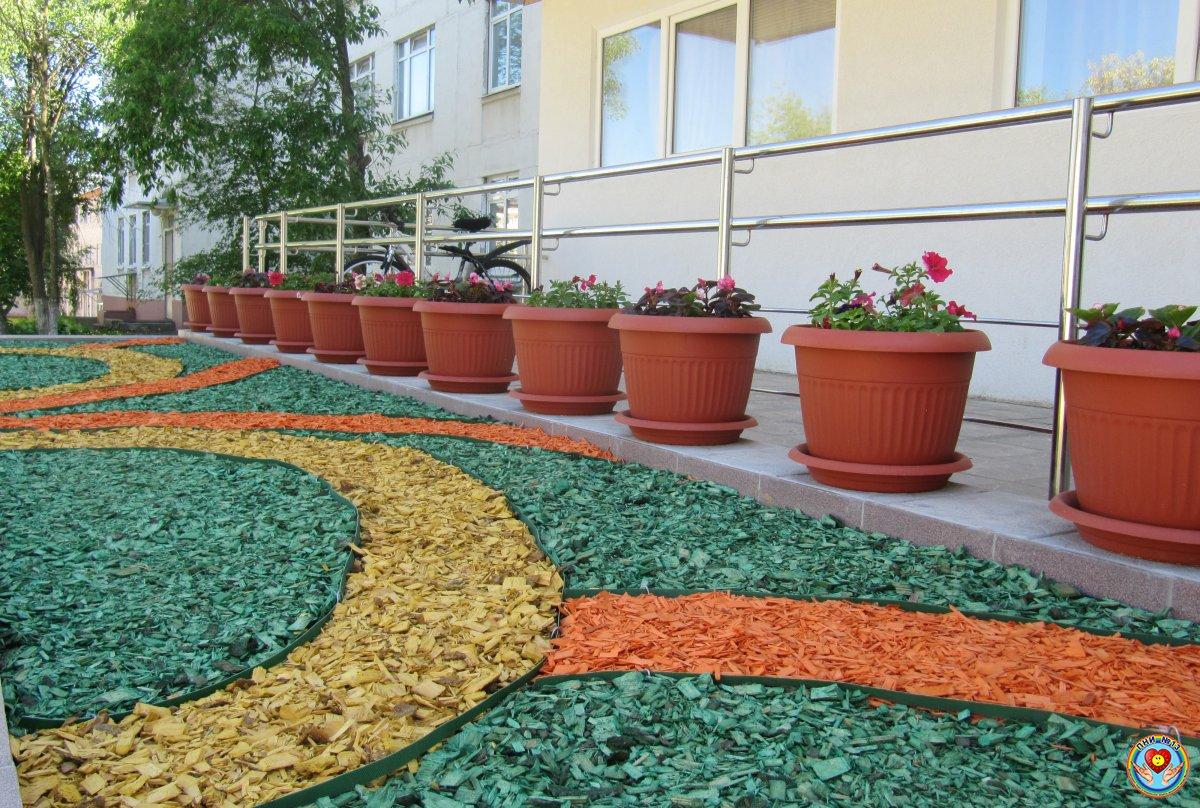 цветной гравий в цветы фото этапов работы